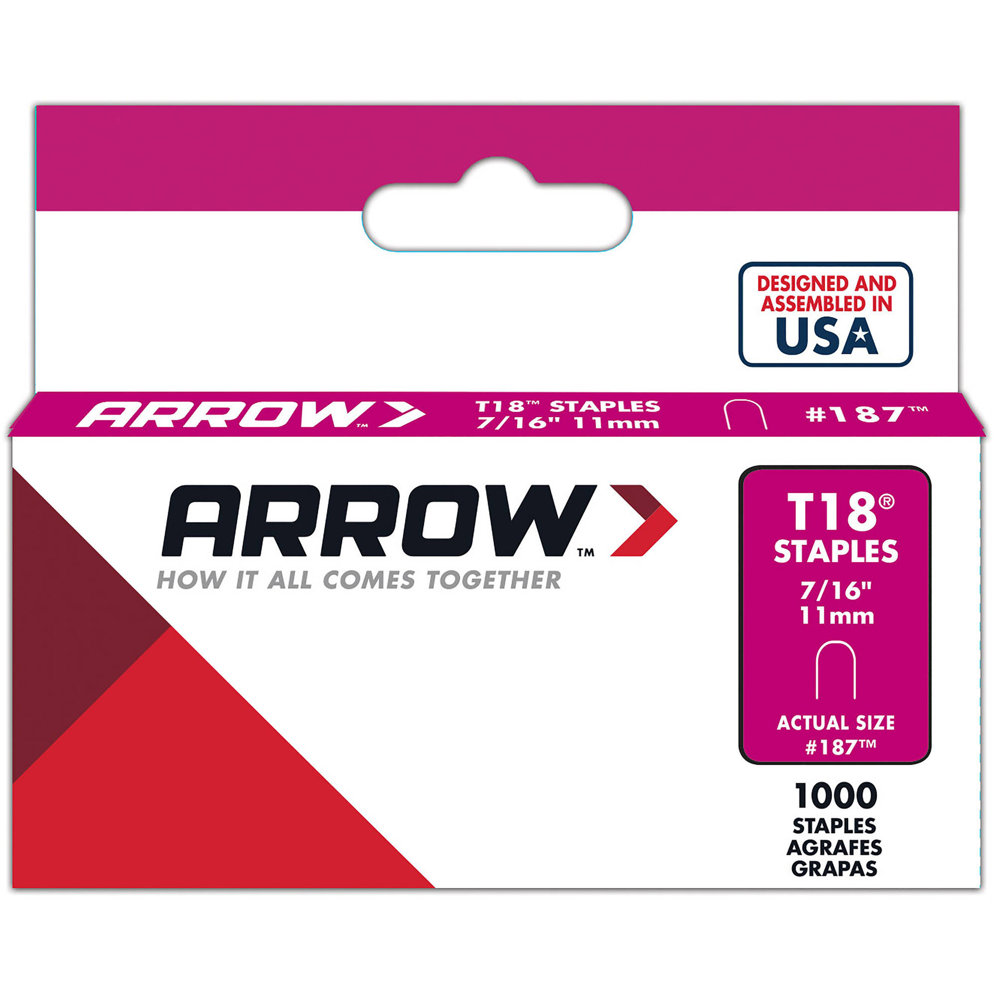 "Arrow Fastener T18 7/16"" Staples"