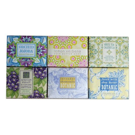 Set of 6 Greenwich Bay Shea Butter Luxury Spa Soap, Large 10.5 oz. Bars
