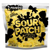 SOUR PATCH KIDS Lemon Soft & Chewy Candy, Just Yellow (2 LB Party Size Bag)