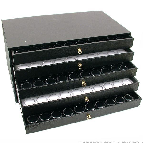 5 Drawer Jewelry Organizer Display Case 250 Gem Jars Walmartcom