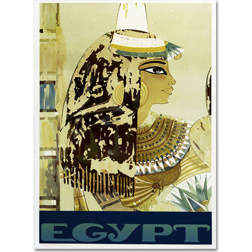 "Trademark Fine Art ""Visit Egypt Cleopatra"" Canvas Art by Vintage Apple Collection"