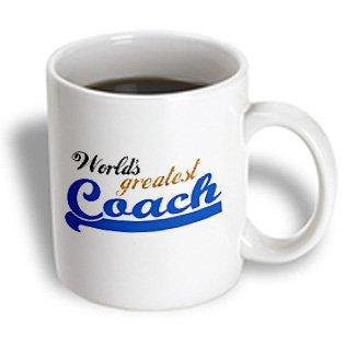 3dRose Worlds Greatest Coach - Best sports instructor - for physical education teachers and other coaches, Ceramic Mug, - Best Teacher Supply