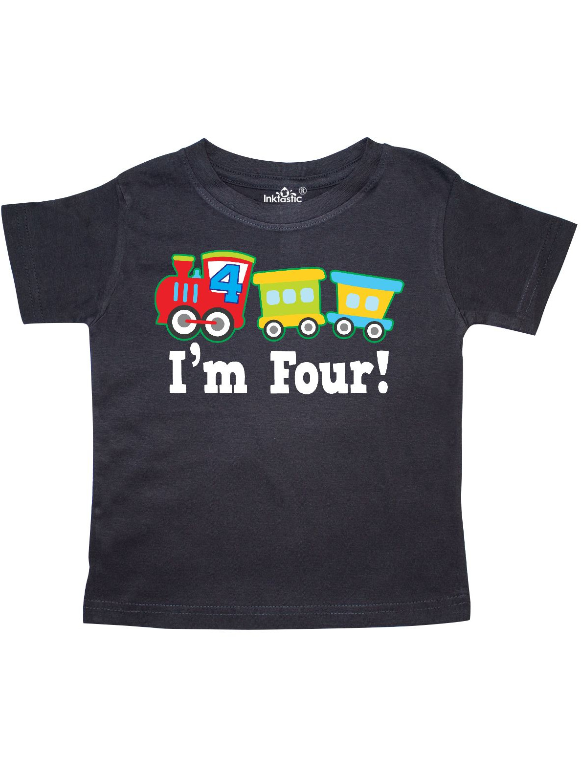 inktastic 4th Birthday Train Outfit Toddler T-Shirt