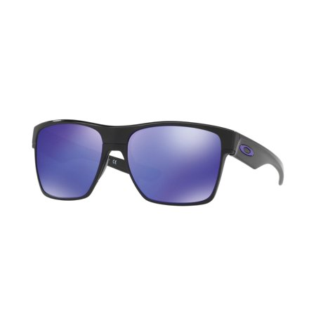 New-OAKLEY-2-TWO-FACE-XL-Polished-Black-Violet-Iridium-Sunglasses-OO-9350-04 Ne (Oakleys Womens Sunglasses)