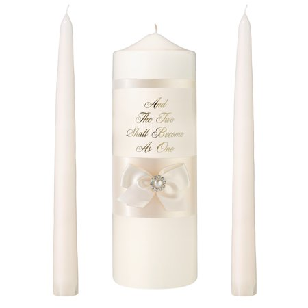 Decorate Unity Candles - Ivory Pearl Candle Set