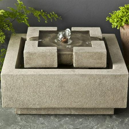 Campania Cast Stone Escala Garden Terrace Outdoor Fountain