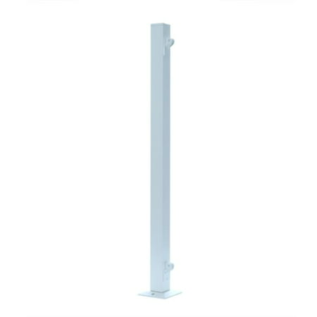 UDECX RRE941 Patio Decking End Railing Post, White