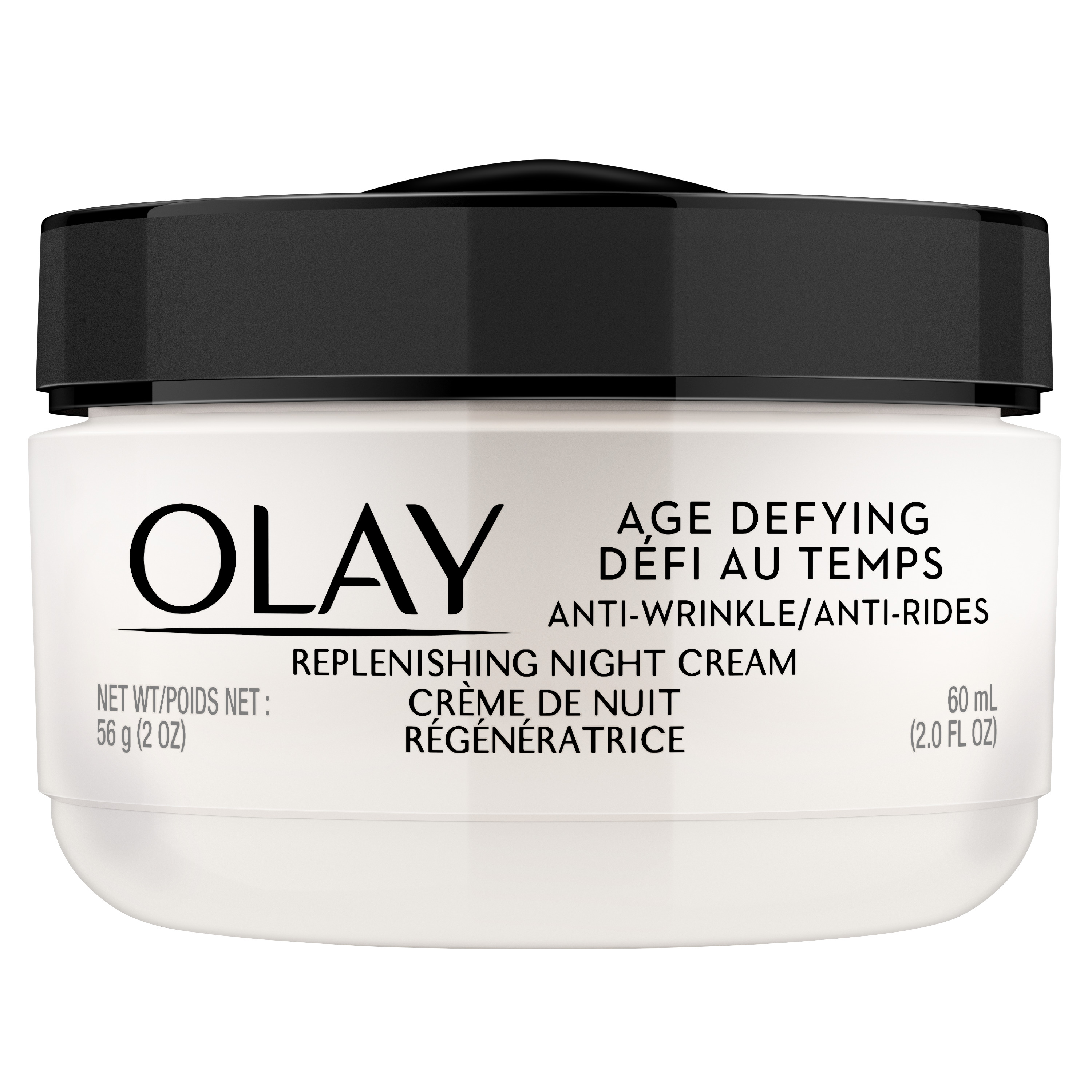 Olay Age Defying Anti-Wrinkle Night Face Cream, 2.0 oz