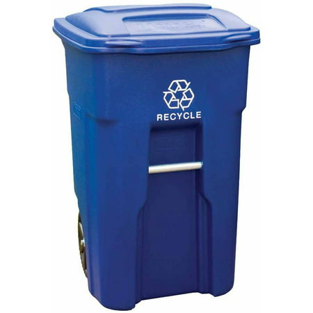 Toter 48 Gal. Blue Recycling Container with Wheels and Lid