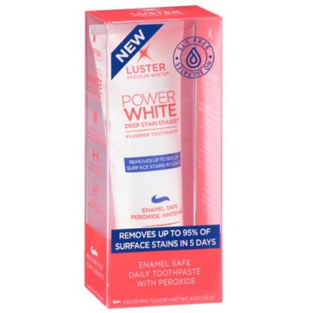 2 Pack - Luster Premium White White Deep Stain Eraser Daily Toothpaste Excite-Mint, 4 oz ()