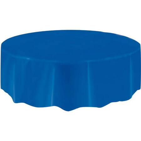 (2 pack) Plastic Round Tablecloth, 84 in, Royal Blue, 1ct - Round Tablecloths Plastic