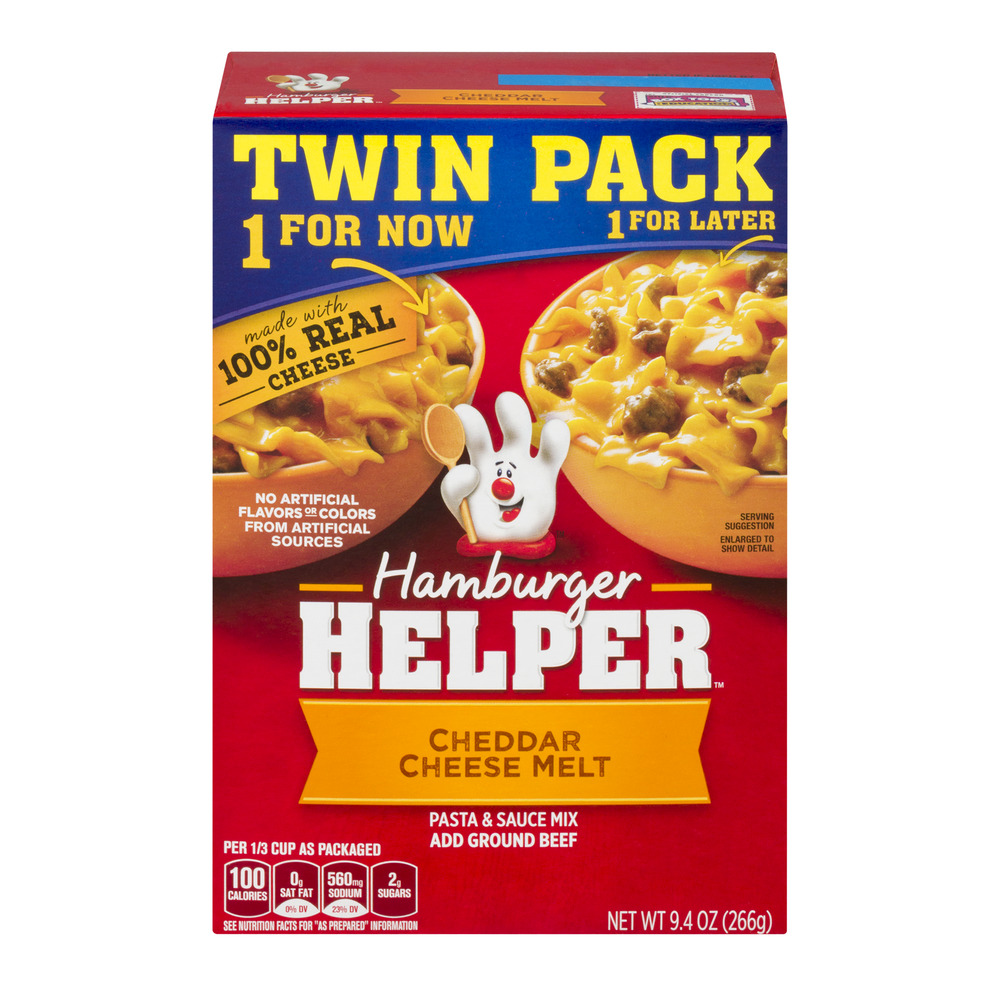 Hamburger Helper Cheddar Cheese Melt Twin Pack, 9.4 oz