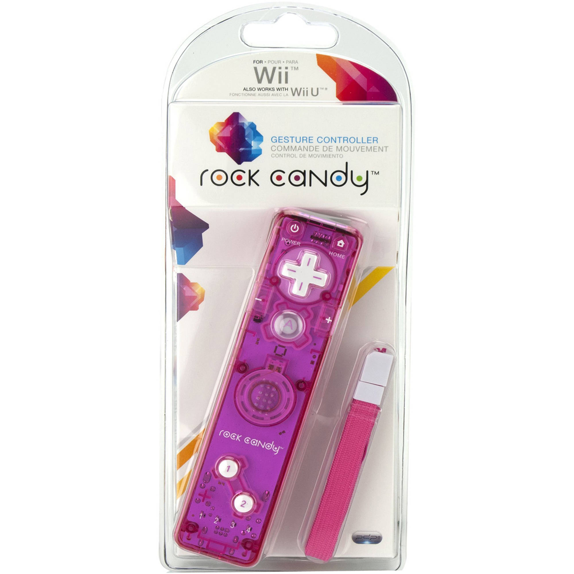 PDP Rock Candy Gesture Controller, Pink (Wii)