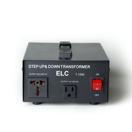 20a Converter (T-1000 1000-Watt Voltage Converter Transformer - Step Up/Down - 110V/220V - Circuit Breaker Protection)
