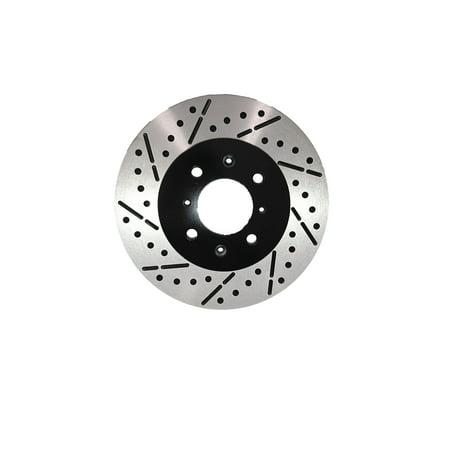 [Front Premium E-Coat Drill&Slot Brake Rotors Ceramic Pads] Fit 03-05 Kia Rio - image 1 de 2