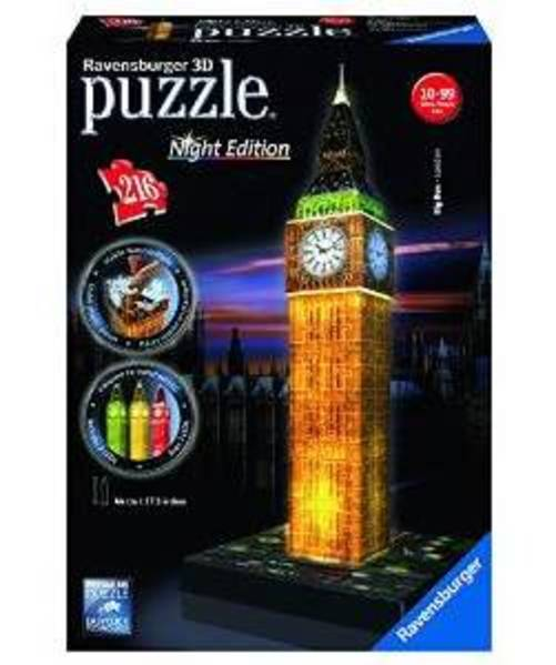 3D Puzzle: Big Ben: Night Edition Puzzle, 216 Pieces by Ravensburger USA Inc
