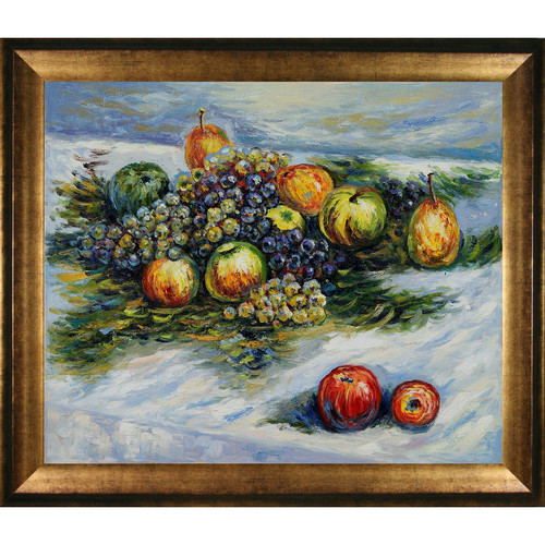 Wildon Home  Pears and Grapes by Claude Monet Framed Original Painting