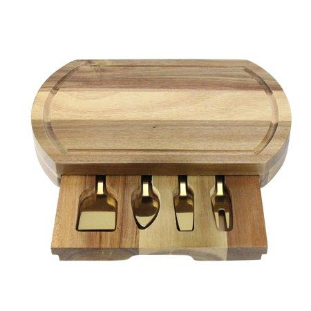 Gold Natural Wood Cheese Board - 11