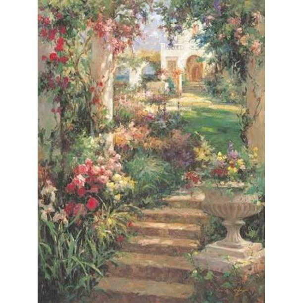 Ancient Garden Urn Canvas Art Vail Oxley 22 X 28 Walmart Com
