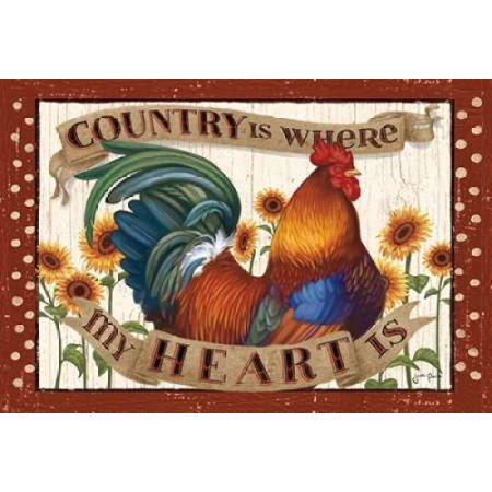 Country Heart I Dots Canvas Art - Janelle Penner (20 x 28) ()
