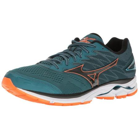 Mizuno Men's Wave Rider 20 Running Shoes, Blue CoralBlackClownfish, 12 D(M) US