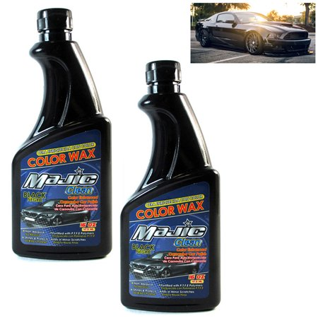 2 Black Car Polish Wax 16oz Carnauba Auto Care Shine Paint Finish Color (Carnauba Car Polish)