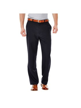 Haggar Men's Cool 18 Solid Flat Front Pant Classic Fit 41114529498