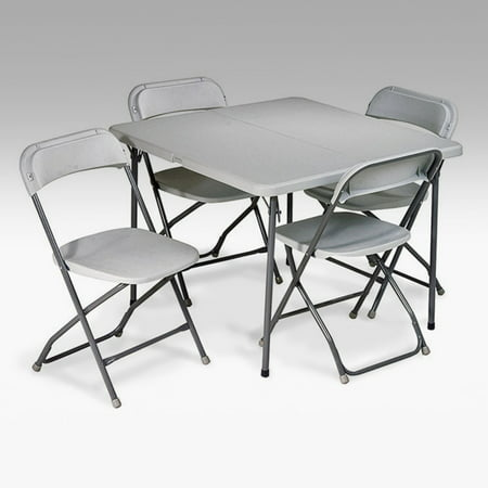 5-Piece Folding Table and Chair Set ()