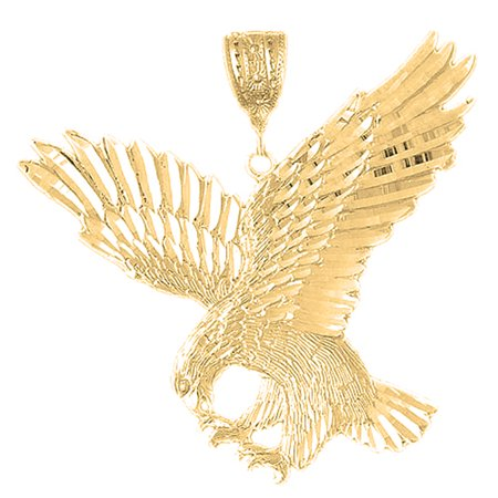 18K Yellow Gold Eagle Pendant - 72 mm