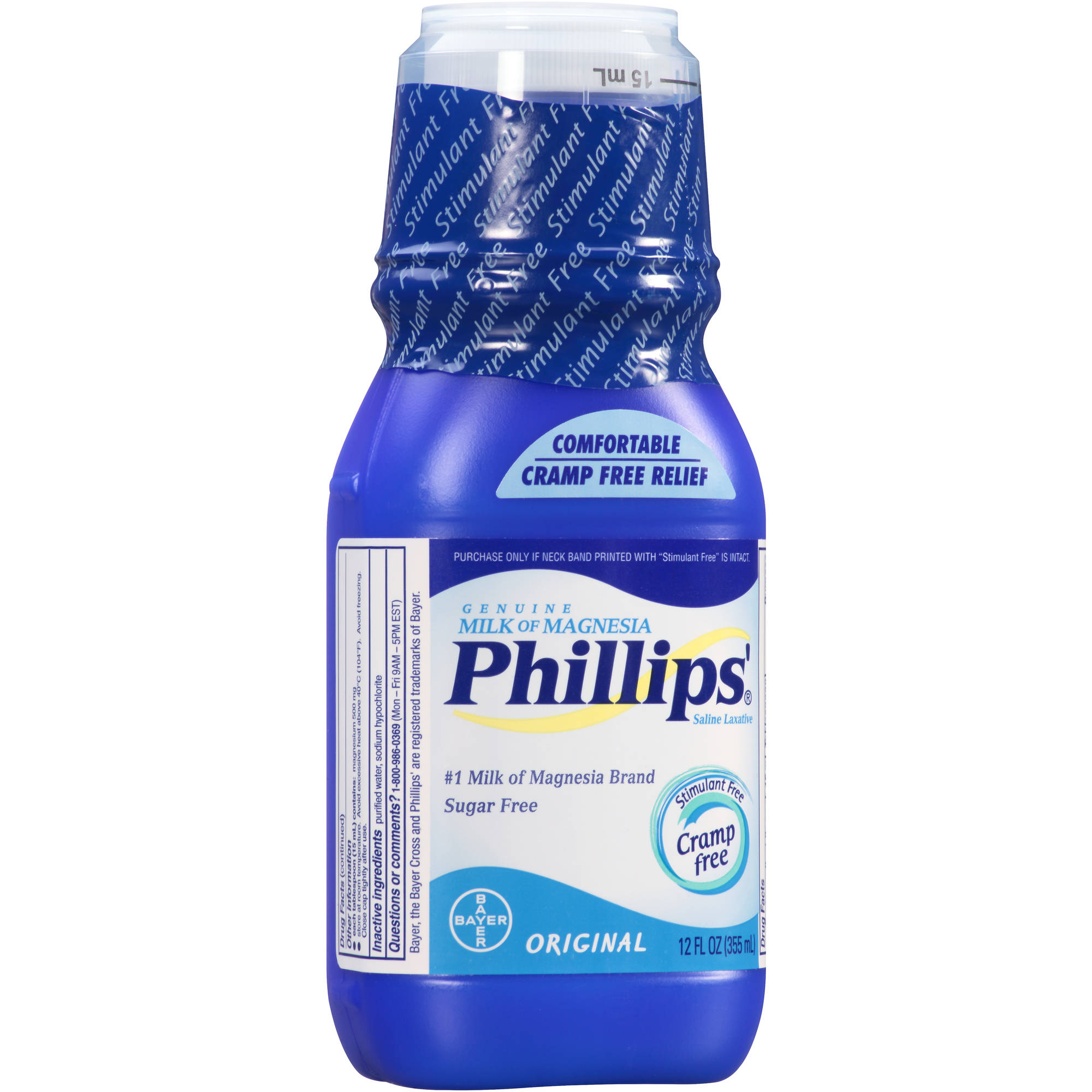 Phillips' Genuine Milk of Magnesia Original Saline Laxative Liquid, 12 fl oz