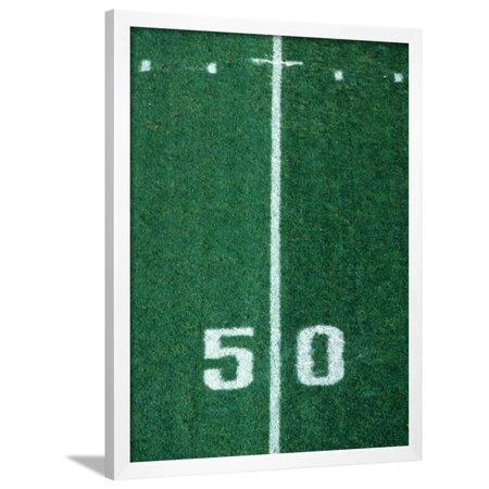 Football Yard Lines (50 Yard Line American Football Framed Print Wall Art By Steven)