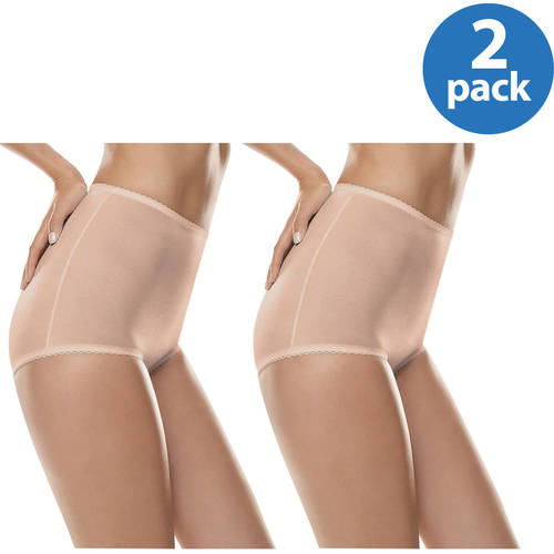 Hanes Womens All-Over Shaping Moderate Control Brief ( 2-pack )