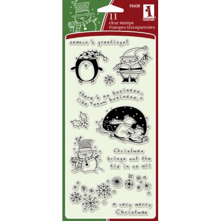 Inkadinkado Christmas Favorite Characters Clear Stamps - Inkadinkado Halloween Stamps