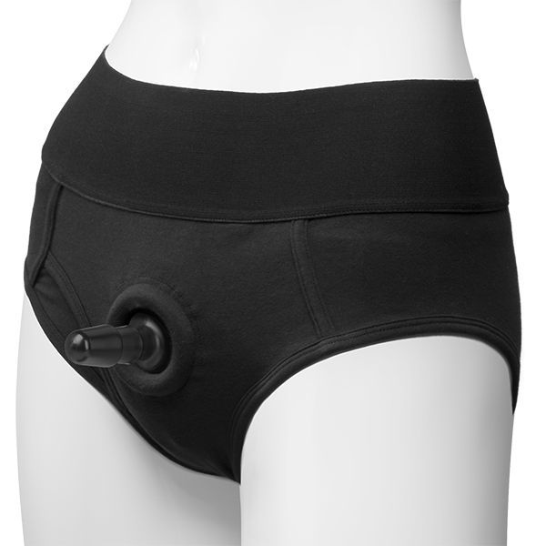 Vac-U-Lock Briefs Panty Harness Black L/XL