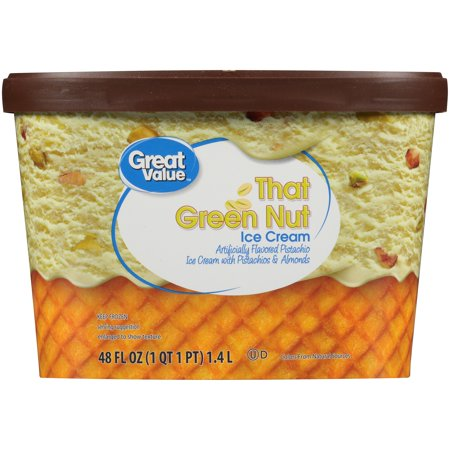 Great Value That Green Nut Pistachio Ice Cream, 48 oz