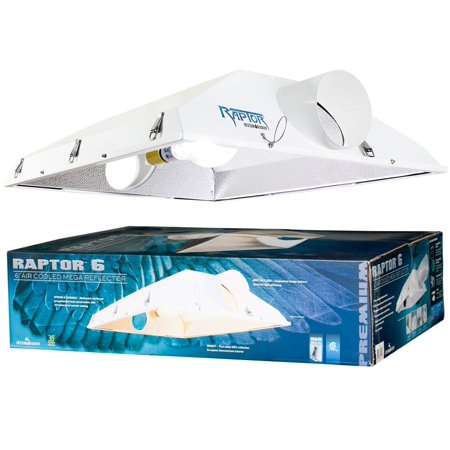 "NEW! Hydrofarm Raptor 6"" Air Cooled Grow Light Fixture Reflector Hood 