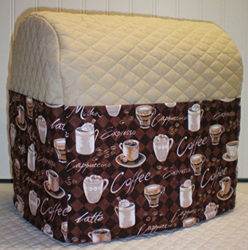 Quilted Coffee Kitchenaid Tilt Head Stand Mixer Cover (All Brown Coffee)