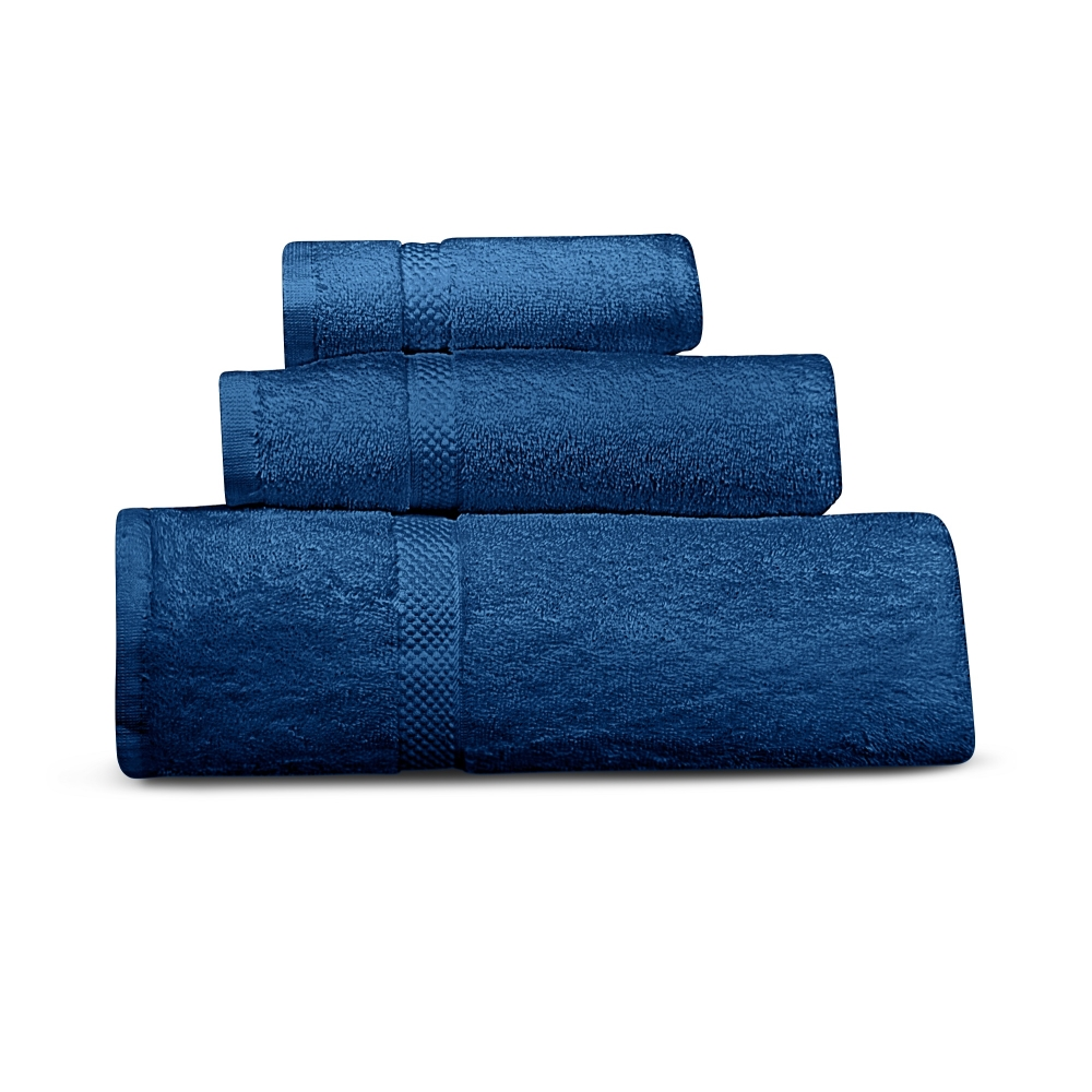 Cheer Collection 3 Piece Towel Set Solid Assorted Colors by Cheer Collection