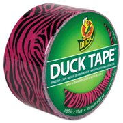 "Duck Brand 1.88"" Pink Zebra Duct Tape, 10 Yd."