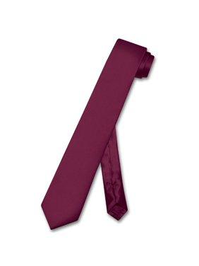 99a29305db42e Product Image Biagio 100% SILK Narrow NeckTie Skinny EGGPLANT PURPLE Color  Men's 2.5