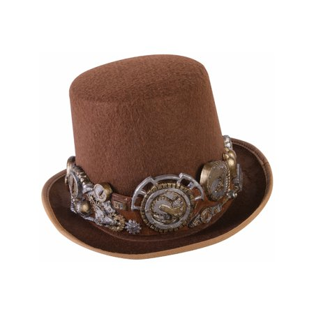 Steampunk Hat With Deluxe Headband Costume Accessory Mens Standard