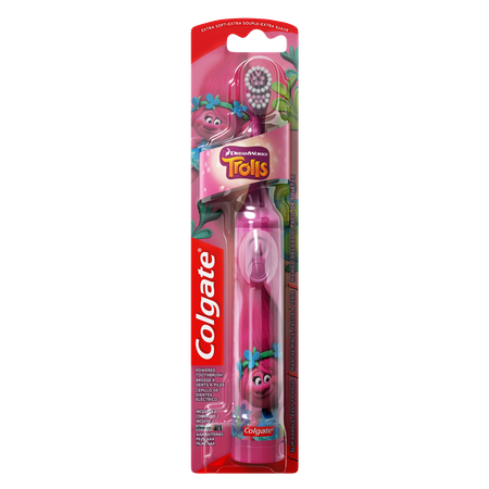 Whitening Powered Toothbrush - Colgate Kids Battery Powered Toothbrush, Trolls