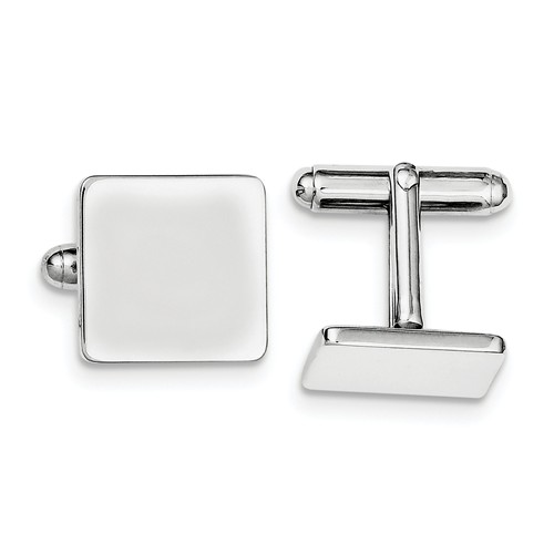 Sterling Silver Engravable Square Cuff Links