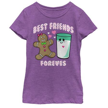 Girls' Christmas Gingerbread Best Friends T-Shirt (Christmas Presents For A Best Friend Girl)