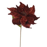 "Vickerman 22"" Chocolate Poinsettia Vickerman 12"" Flowr 6/Bag"