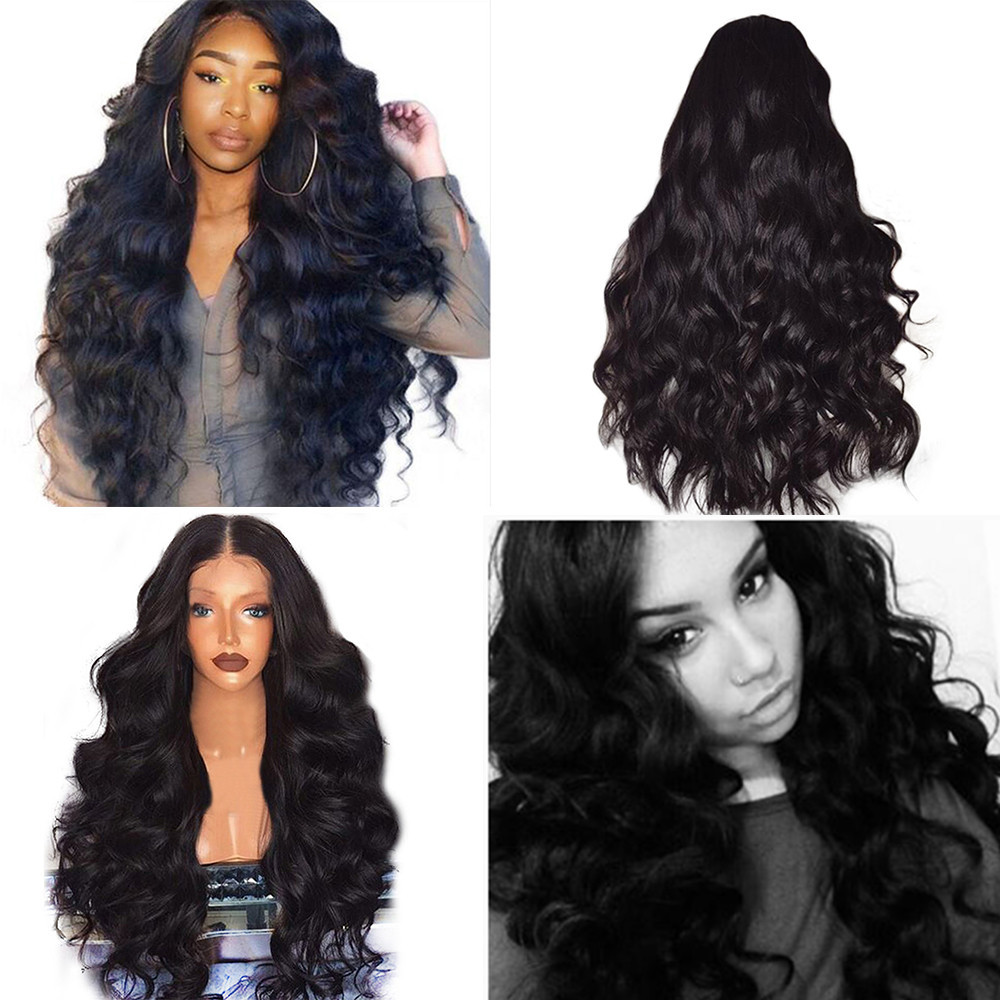 Brazilian Remy Human Hair Body Wave Lace Front Human Hair Wigs