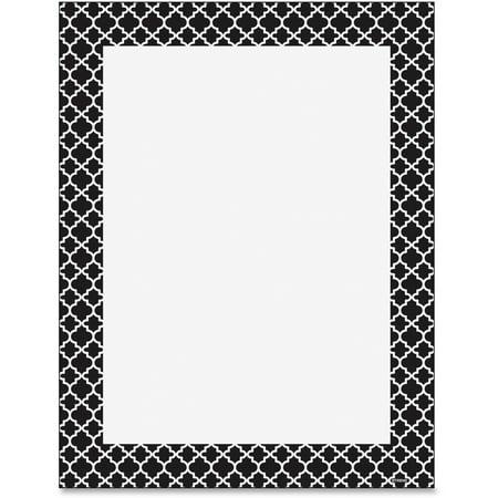 Trend, TEP11425, Moroccan Black Design Printer Paper, 50 / Pack, Black,White (Black And White Paper)