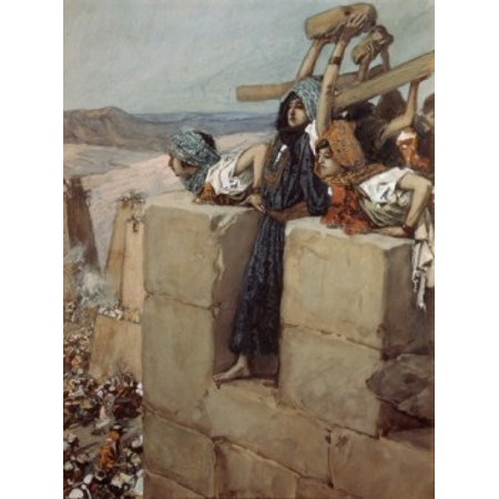 A Woman Breaks the Skull of Abimelech James Tissot (1836-1902 French) Jewish Museum New York City Canvas Art - James Tissot (24 x