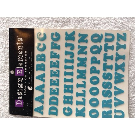 Turquoise Alphabet Iron On Transfer  1 Sheet By Joann Fabric And Craft Stores