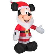 Mickey Mouse with Santa Beard Airblown Christmas Decoration